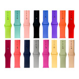 Correa Para Apple Watch  Silicon Lisa Colores Serie 5 4 3 2