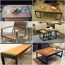 Muebles Tipo Industrial Rusticos Madera Herreria