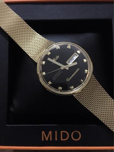 4bdff7b206f7 Reloj Mido Commander Automatico M842932813 Dorado Caballero