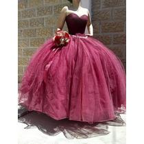 Busca Vestido Color Vino Xv Anos Un Solo Uso Excelente