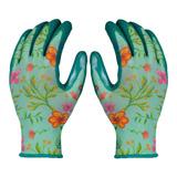 Guantes Para Jardinería Con Diseño De Flores - Nitrilo