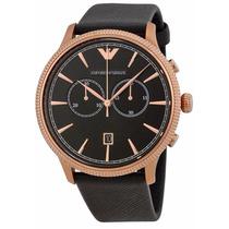 Reloj Emporio Armani Classic Cronógrafo Piel Negra Ar1792