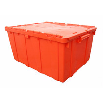 Caja De Plastico Canadá Con Tapa 50 X 30 X 21