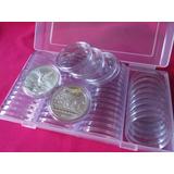 60 Capsulas Onza Monedas De 40mm Con Estuche Alta Calidad