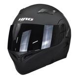Casco Moto Abatible Hro 3400dv Negro Mate Con Luz Stop