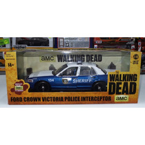 1:18 Ford Crown V Police Walking Dead Greenlight Patrulla