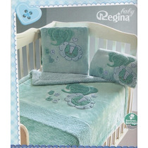 Cobertor Cunero Nubecitas Azul Regina