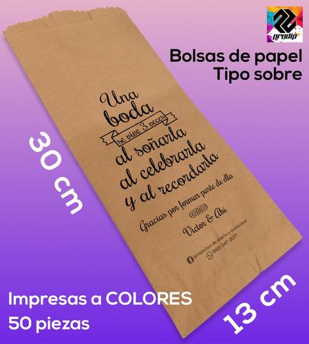 d1d422d07 Bolsas De Papel Kraft Impresas Personalizadas 13x30 Bn 50pz en venta en  Centro Tabasco por sólo $ 124,00 - CompraMais.net Mexico