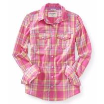 Camisa Manga Larga Aeropostal Dama Estilo 2970 Rosa