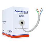 Bobina Cable Utp Cat 5e Blanco 305m 8 Hilos Cctv Rj45 0.42mm