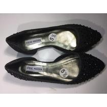 Zapatos Flats Steve Madden Negros Brillos Piedras