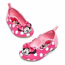 Zapatos Flats Minnie Mouse Talla 18 Disney Store Hermosos