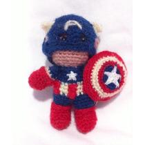 Capitan America Amigurumi Hombre Araña, Crochet