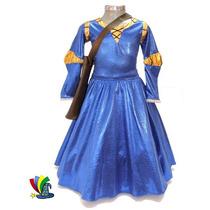 Disfraz Vestido Merida Valiente Modelo Disney Talla 6