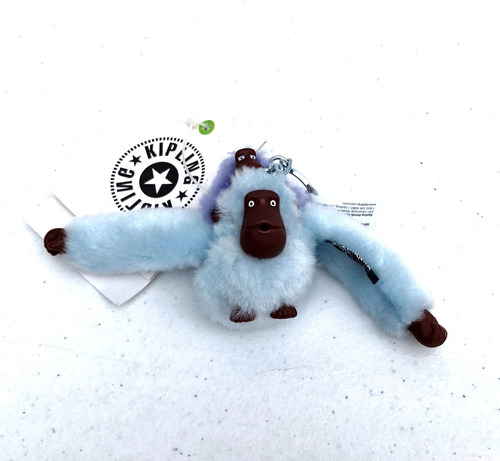 a35520e53 Kipling Mono Chango Llavero Monkey Baby Azul Celest Original en ...