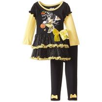 Conjunto Disney Niña Minnie Mouse, Talla 12 Meses.