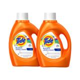 2 Pack Tide Detergente Bleach Alternative, 59 Cargas, 2.72 L