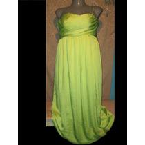 Vestido Fiesta Verde Strapless En Talla 2x 18-20 Extragrande