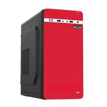 Gabinete K-mex 01a7 Negro Y Rojo 450w Lector M. 2usb+audio