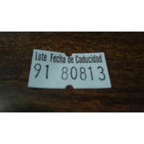 Etiqueta Para Lote Y Fecha De Caducidad De 12 X 21mm Nueva