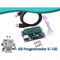 Programador Pic K150 De Bajo Costo + Cable Usb + Cable Datos