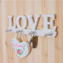 Llavero Perchero Porta Llaves Con Palabra Love Blanco H4079