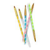 Set Con 5 Pinceles Profesionales Kolinsky Uñas 2,4,6,8,10 Para Uñas Diversos Colores