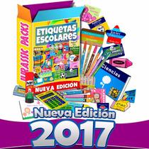 Etiquetas Escolares Personalizadas Kit 5 Gigas Imágenes 2017