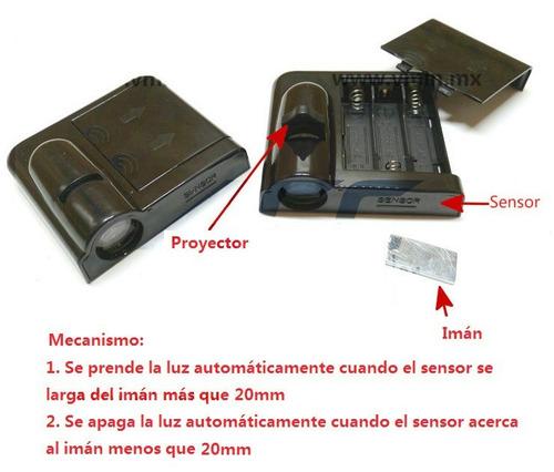 Luz De Cortesía Puerta Proyector Led Logo Inalámbrico - Par Foto 5