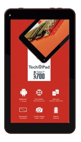 Tablet Tech Pad I700 7  8gb Rojo Con Memoria Ram 1gb