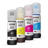 Tinta Epson T544 L1110 L3110 L3150 Ecofit Cmyk Botella Original Especial F