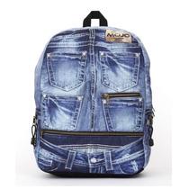 Mochila Backpack Denim Jeans Compartimento Para Tablet Mojo