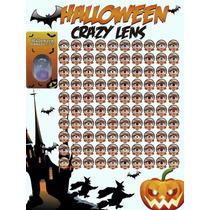 Pupilentes Crazy Lens Halloween, Duracion Anual, Estuche Grt