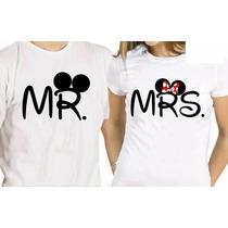 Playera Para Ella Y Para Él Mr & Mrs 14 De Febrero Llevate 2