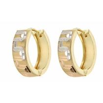 2f0765bd6cee Arracadas Huggies Diamantadas En Oro De 14 K + Obsequio en venta en ...