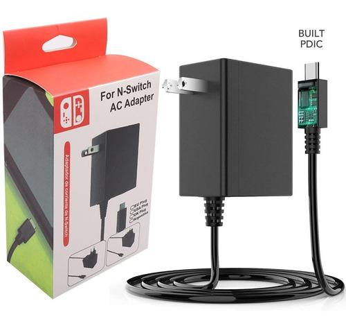 Ac Adapter De Nintendo Switch/lite Cargador  15v/2.6a 1.5m