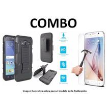 Protector Rudo + Vidrio Temp Huawei G Elite P8 Lite Ale L23