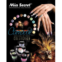 Acrilico Uñas Decoracion Mia Secret Coleccion Carnaval 12pza