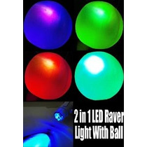 Incredible 2 En 1 Deluxe Led Raver Luz Con Blow Up Raver Bol