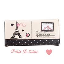 Cartera Dama Paris Torre Eiffel Vintage