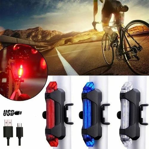 Luz Trasera De Bicicleta Recargable Ipx-4 Impermeable