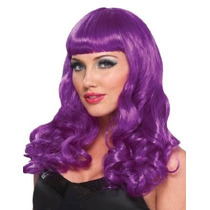 Tb Womens Party Girl Purple Wig - Adult Std.