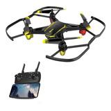 Mini Dron Gw66 Con Cámara Hd Fpv Luz Led 2 Baterias Externas