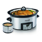 Crock Pot Olla D Coccion Lenta 5.6l + Little Dipper Portatil
