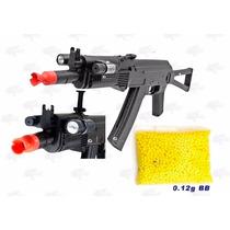 Marcadora Ak47 P74 Linterna Laser Airsoft Spring Bbs 6mm Xtr