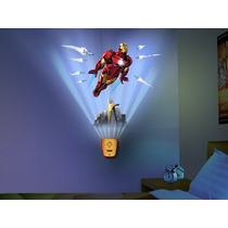 Lampara Wild Walls Marvel Iron Man Sonido Uncle Milton Nueva