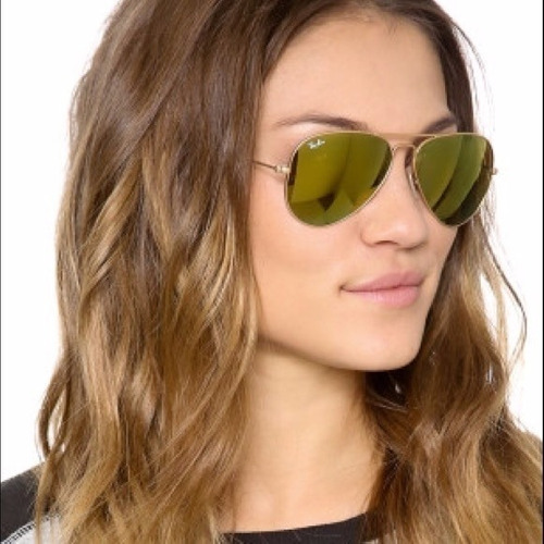 gafas ray ban aviator espejo verde
