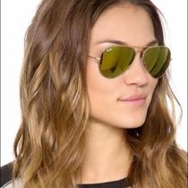 Gafas Ray Ban Aviator Gold 24 Kilates Mirror Aviador 3025
