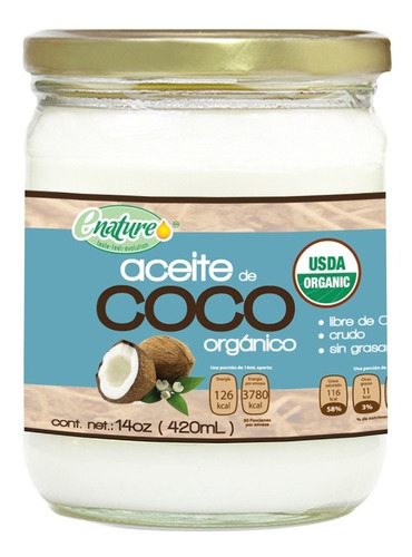 Aceite De Coco Virgen 420ml