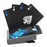 Naipes Baraja De Poker Plasticas A Prueba De Agua Negras